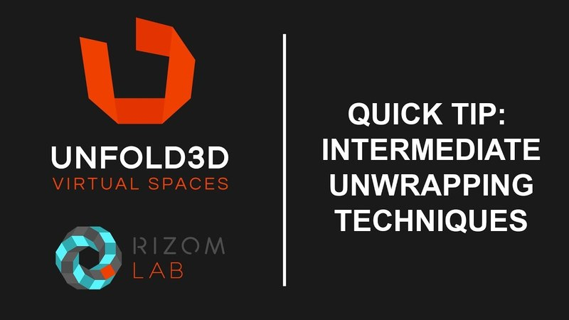 Unfold 3D 10 VS Quick Tip - Intermediate Unwrapping Techniques