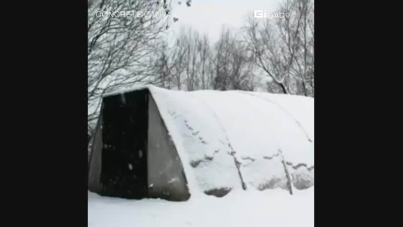 This shelter only needs water to build, and its fire bullet proof