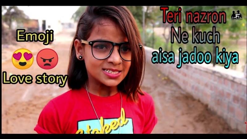Emoji 😊😍😘 Love Story | Teri Nazron Ne Kuch Aisa Jadoo Kiya | Heart Romantic story | Mk Studio