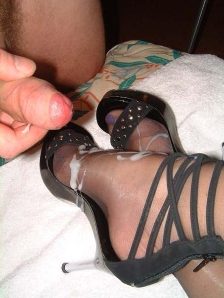 Cum on heels porn pics