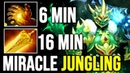 MIRACLE Wraith King Sleep in Jungle 6min Midas Absolutely Outfarm