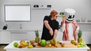 IRL Fruit Ninja with Evan Breen Cooking with Marshmello