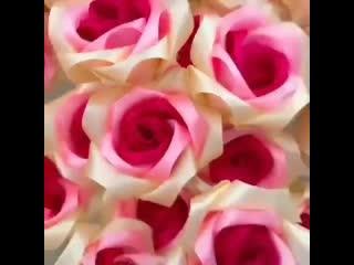 Шикaрный букет роз из aтласных лент !