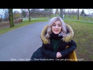 Eva Elfie - Cute young student swallows after Blowjob in the Park, blowjob deepthroat porno