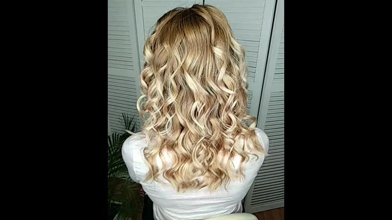 Окрашивание блонд и умная стрижка для Юлии.