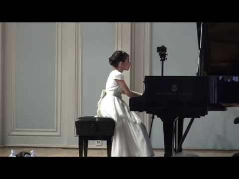 Александра Довгань (10 лет), 1 тур GrandPianoCompetition, 01.05.2018