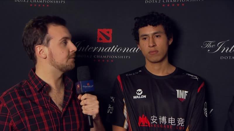 Интервью с Chris Luck после вылета с TI