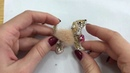 Видеоурок брошь Собачка из бисера / мастер-класс по изготовлению броши