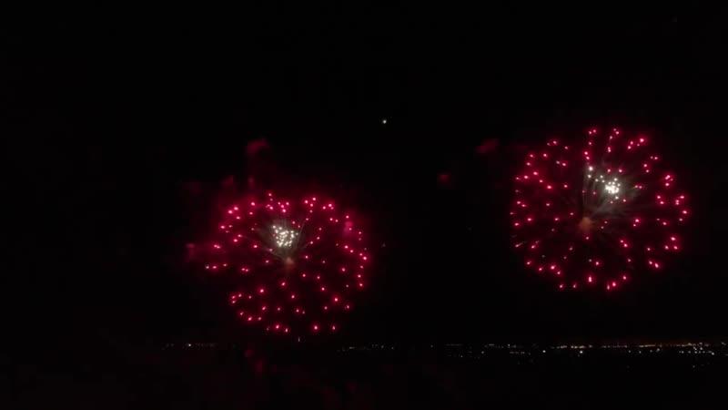 Выступление команды из Твери на фестивале фейерверков Пиро-Рост на Кумже