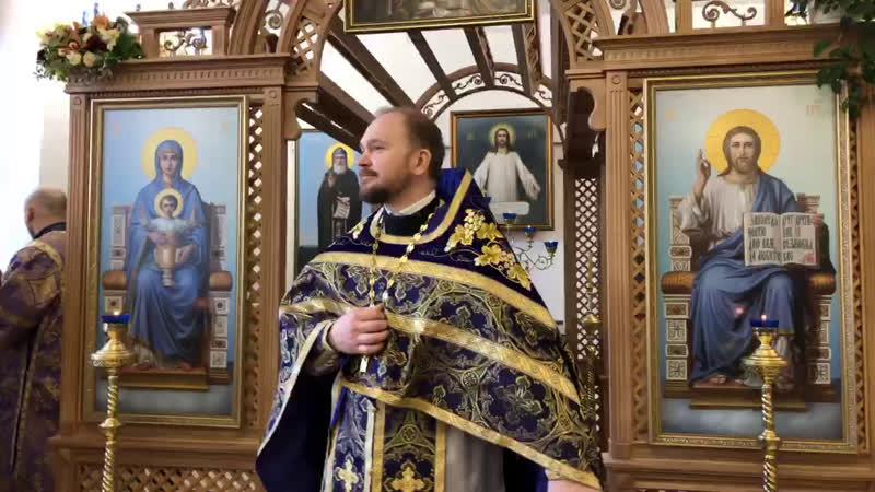 Протоиерей Александр Гаврилов слово перед Литургией