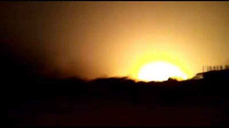02 06 2020 Сирия Латакия взрыв в районе населённого пункта Кбана