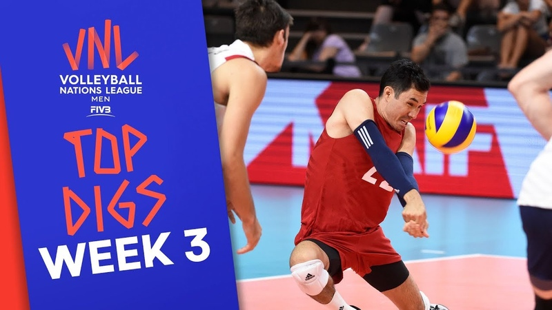 Top Digs of Men's VNL2019 Week 3 Volleyball Nations League 2019