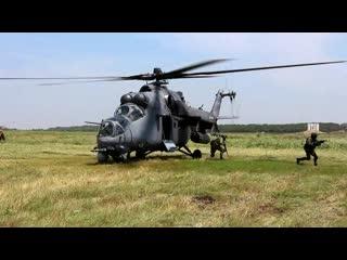 Десантирование с вертолета Ми 35М