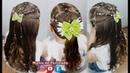 Penteado Infantil com Ligas e Tranças em Amarração ou Semi Preso