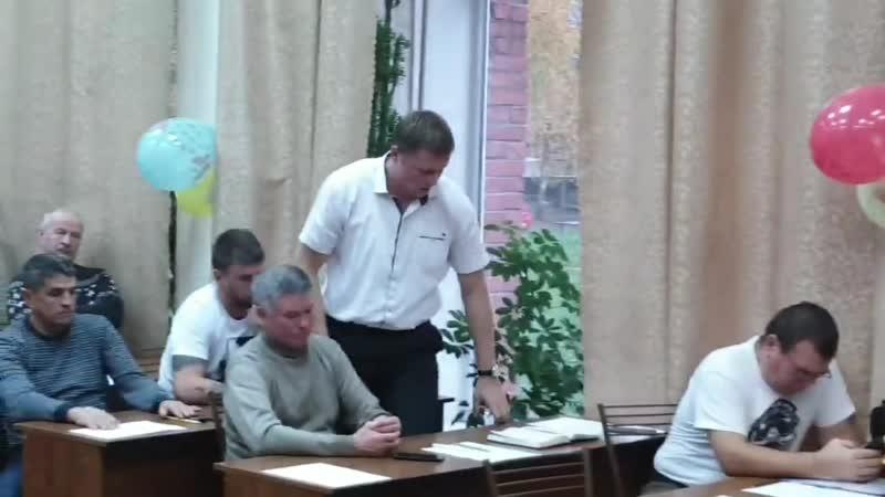 МС Евгений Кобзев на собрании о развитии бокса в Ямбурге Кингисепп