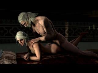 Ciri part 1, Порноверсия Ведьмак / 3DCG Porno semen blowjob sperm отсос минет сперма кончил в глотку секси блондинке брюнетке