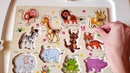 Учим ЖИВОТНЫХ Звуки Животных Обучающий мультик для самых маленьких