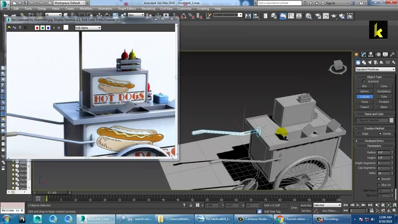 Tutorial on Modeling and Texturing a food stall in 3dsmax ( Part 3)