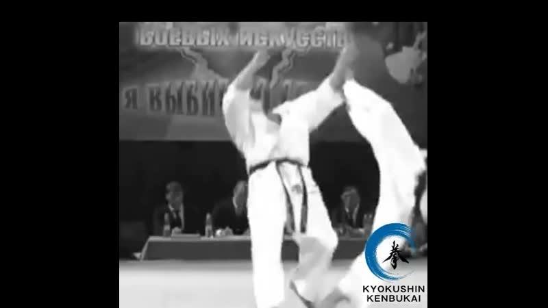 Тоби Уро Маваси гери в башню в Подготовке бойца Кёкусинкай карате vk.com/oyama_mas