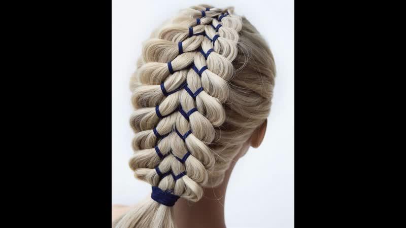 Красивое плетение с ленточкой