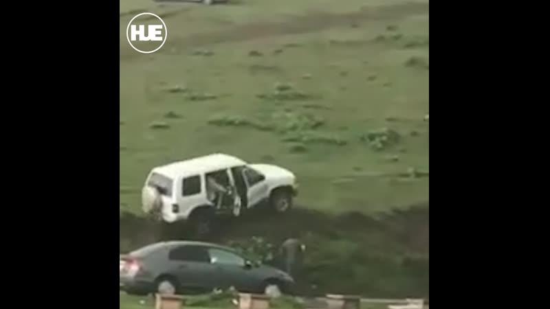 Неудачный подъем машины на склон или как не стоит делать