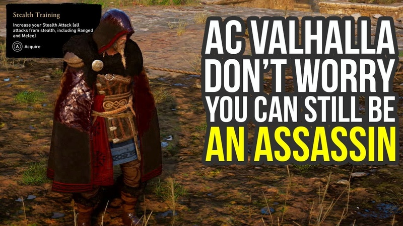 Assassin's Creed Valhalla Gameplay One Hit Assassinations Social Stealth More AC Valhalla