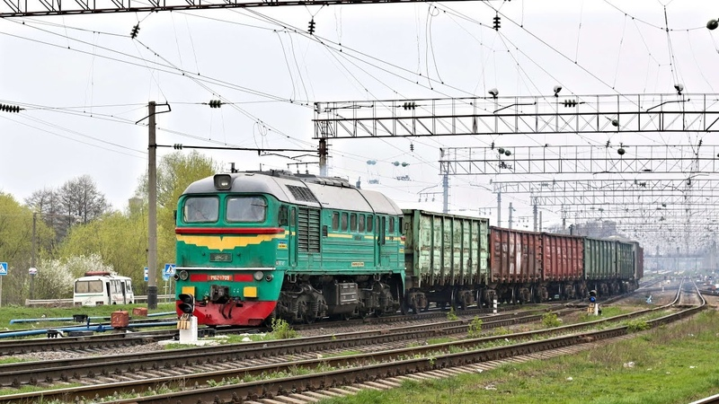 М62-1709 Taigatrommel ohne Schalldämpfer с коротким грузовым поездом