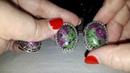 Распродажа новых серебренных наборов с натуральными камнями.