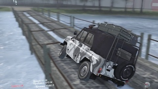 SpinTires Обзор карты The road doesn't forgive mistakes. Автор: KJIAссuk
