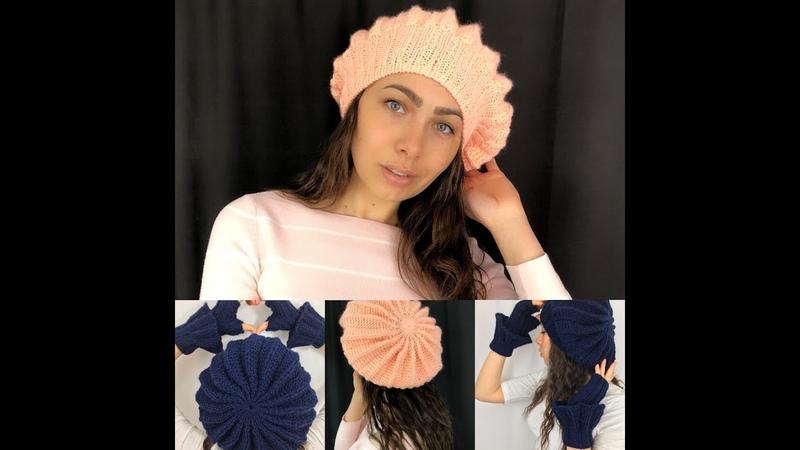 Come fare un Cappellino ai ferri senza cuciture 1^ Berretto ai ferri Facilissimo Knitted hat