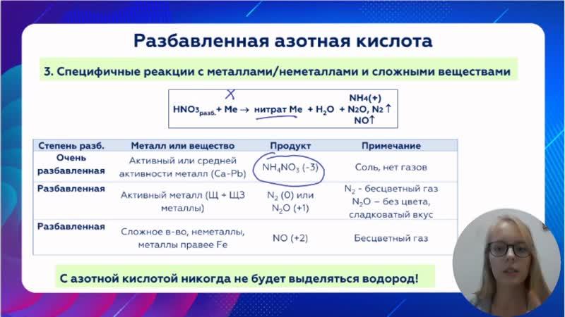 Урок 2 особые свойства кислот окислителей Химия по фильмам