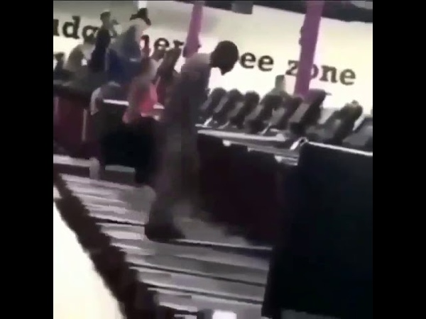 Black man walking on treadmill meme