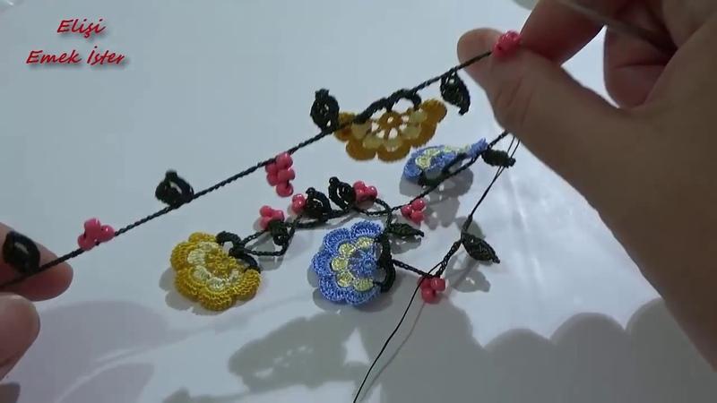 Tığ işi Kolye Tasarımım Tam Anlatımlı Yapılışı Jewellery Design @Şükrüyeden Sadece İğne Oyası