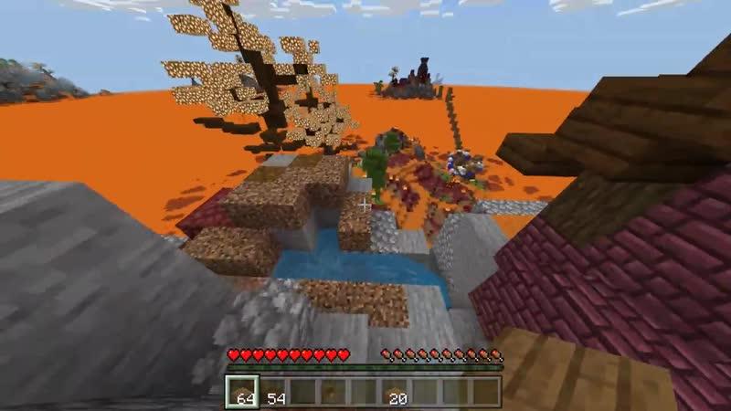 ZidDer Майнкрафт Но Лава Океан Пытается Нас Убить Выживание В Бесконечном Мире Из Лавы 1