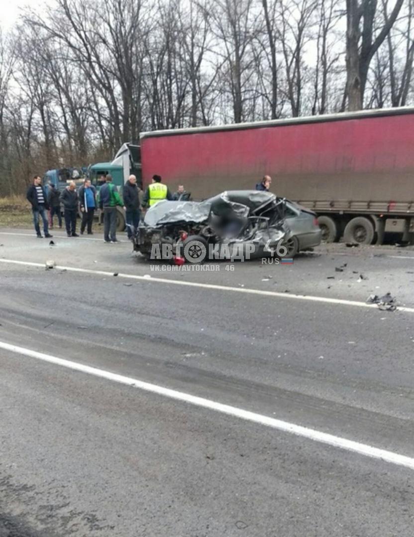 В массовом ДТП в Курской области погиб 24-летний парень. Трое получили травмы