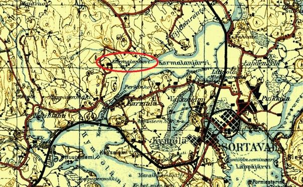 Местоположение загородной усадьбы К.Г. Берга