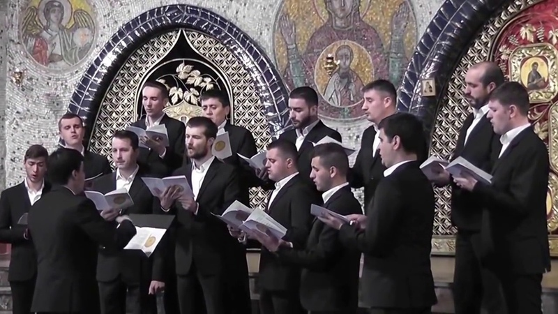 """«Тебе Бога хвалим» Бортнянский и «Достойно есть» V. Bragari Corul """"Flacăra"""", Mănăstirea Curchi"""