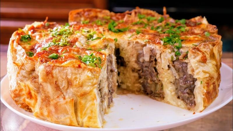 Ленивый пирог с мясом, цыганка готовит. Gipsy cuisine.