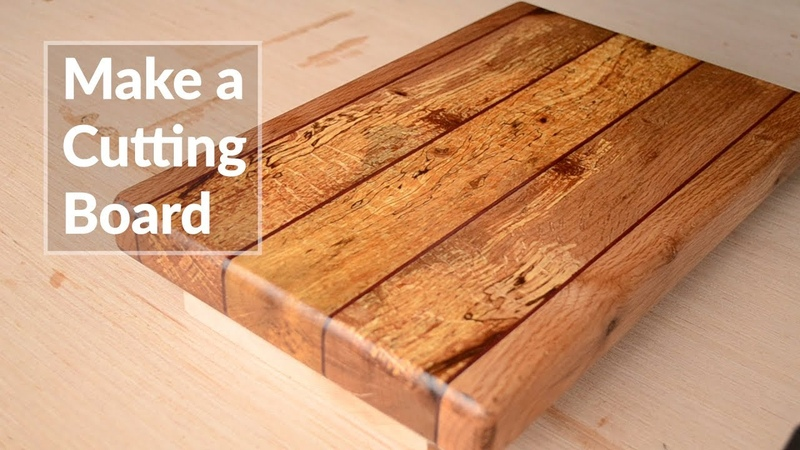 Making a Cutting Board from Rough Lumber! No JOINTER or PLANER. Woodworking Project!