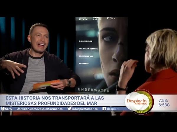 Al filmar la película 'Underwater' Kristen Stewart tuvo que enfrentar uno de sus más grandes miedos