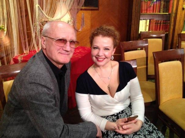Юрий Беляев с женой Татьяной Абрамовой.