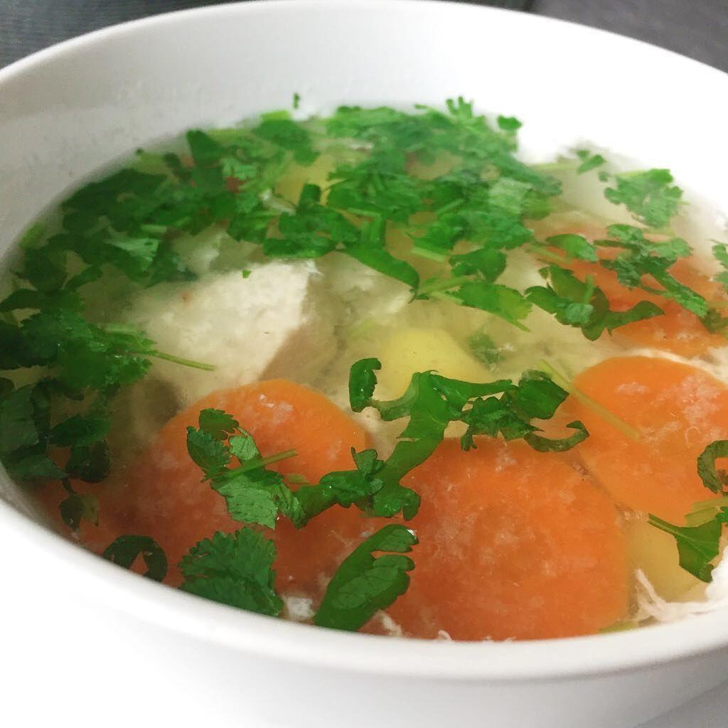 Куриный суп с белком
