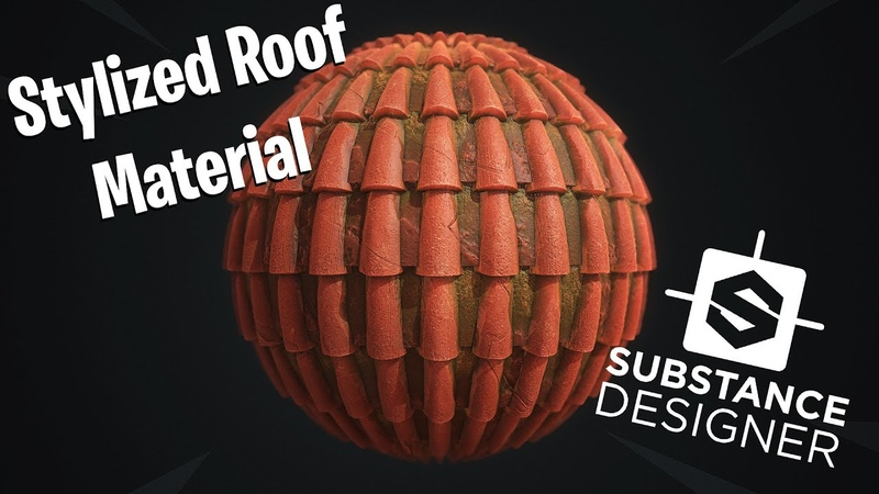 Substance Designer Stylized Roof Material