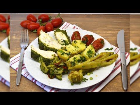 🌶️Куриное филе и запеченые в духовке овощи. ПП. 🍅