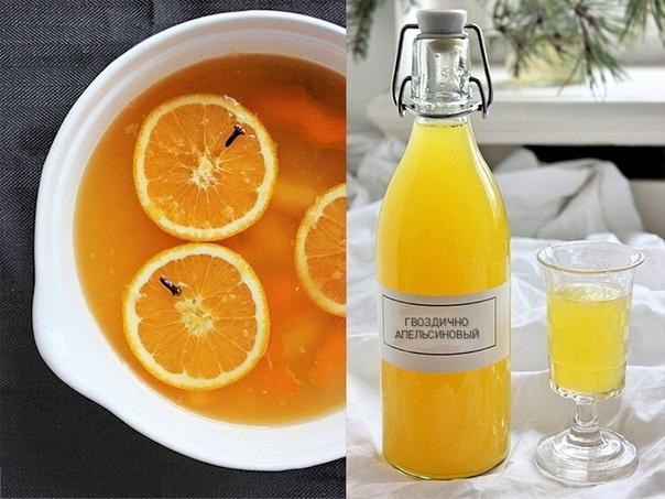 Быстрый апельсиново-гвоздичный ликер