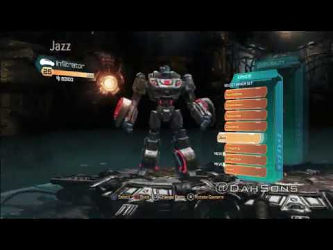Transformers Fall of Cybertron - All Armor Sets, Transformations and Sounds