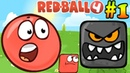 Red Ball VS Boss Evil Black Square Funny game Red Ball 4 Green Hills All levels