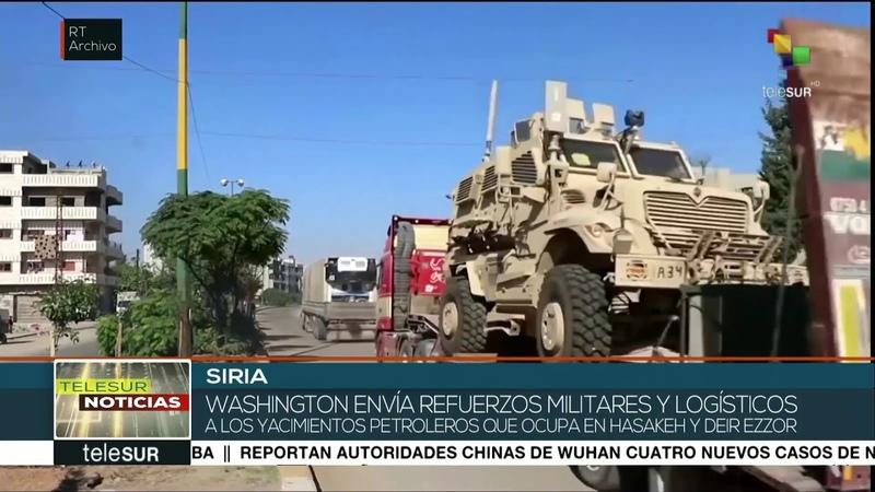 EEUU envía convoy militares a yacimientos crudo ocupados en Siria
