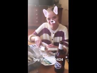 Видео из Instagram Stories друга Саши Лусс (Sasha Luss)