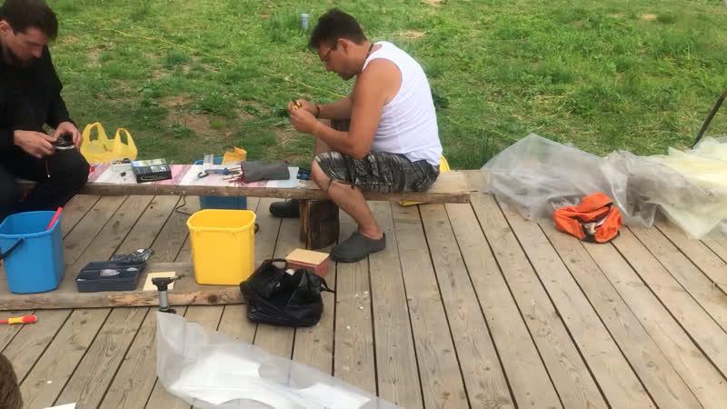 Рабочий процесс Сборка дробилки Юткина